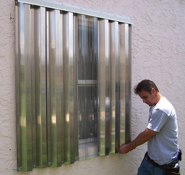 Supreme Aluminum is happy to install your storm shutters for you in the event that a storm is approaching.