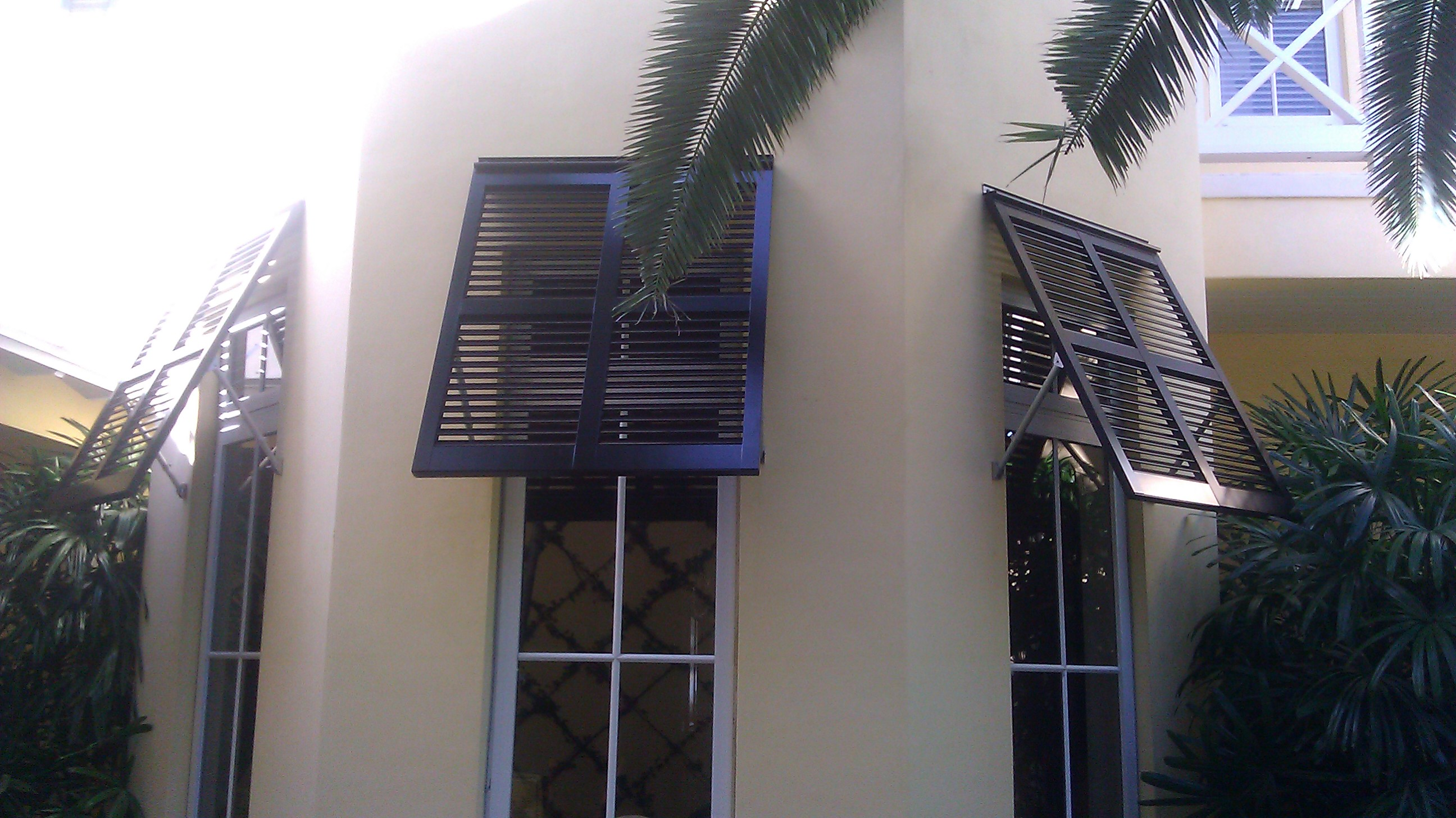 Bahama shutters are aestetically appealing