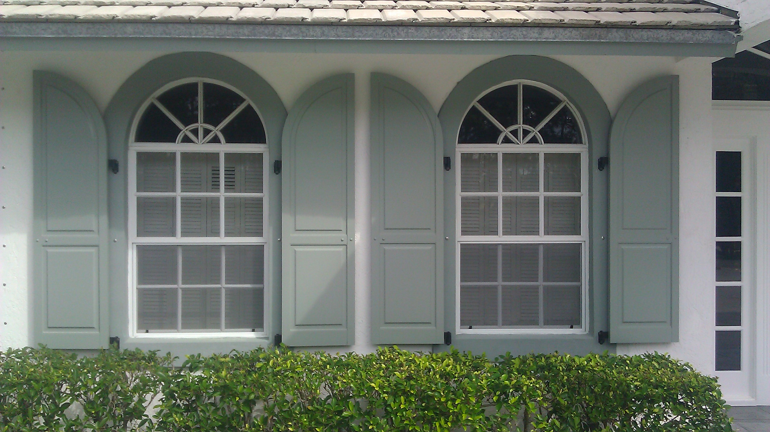 Colonial shutters custom matched